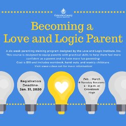 Becoming a Love and Logic Parent info flyer